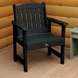 Outdoor Vertical Slat Synthetic Wood Garden Chair