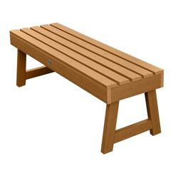 """Outdoor A Frame Synthetic Wood Bench 48""""W"""