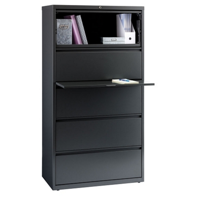 "36""W Five Drawer Lateral File"