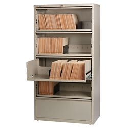"36""W Lateral file with Roll-out Shelves"