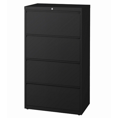 "36""W Four Drawer Roll Out Binder Lateral File with Drawer Dividers"