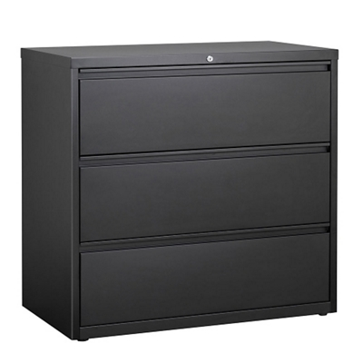 "42""W Three Drawer Steel Lateral File"