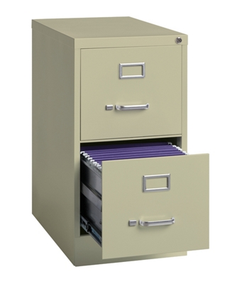 "22""D Two Drawer Letter Vertical File"