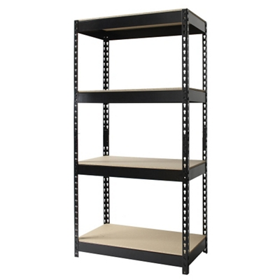 "Four Shelf Riveted Shelving - 30""W x 16""D x 60""H"