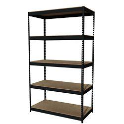"Five Shelf Riveted Shelving - 48""W x 24""D x 84""H"