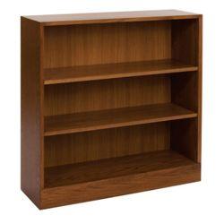 Hardwood Three Shelf Bookcase