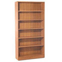 Hardwood Six Shelf Bookcase