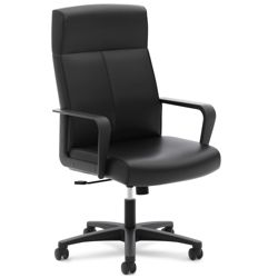 Leather Executive Chair with Integrated Headrest