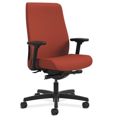 Multi-Adjustment Fabric Mid-Back Chair