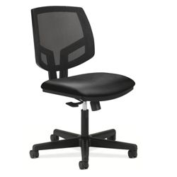 HON Volt Armless Mesh and Leather Task Chair