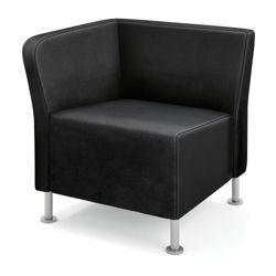 HON Flock Leather Corner Chair