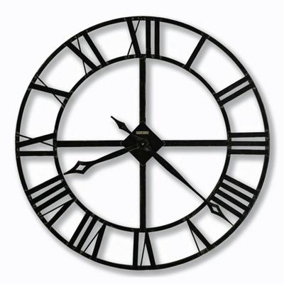 "Wrought Iron Roman Numeral Wall Clock - 32"" Dia"