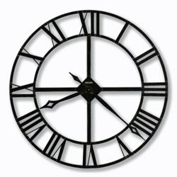 "Wrought Iron Roman Numeral Wall Clock - 32"" Dia"