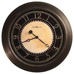 "Antiqued Wall Clock - 25.5"" Dia"