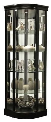 "Five Shelf Corner Curio - 79.5""H"