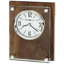 "Amherst 6.75""H Wood Panel Desktop Clock"