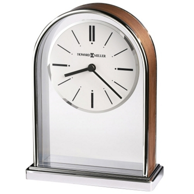 "Milan 7.25""H Chrome-Plated Desktop Clock"