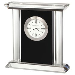 "Colonnade 6.75""H Glass Panel Tabletop Clock"