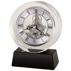 "Fusion 5.75""H Floating Dial Desktop Clock"