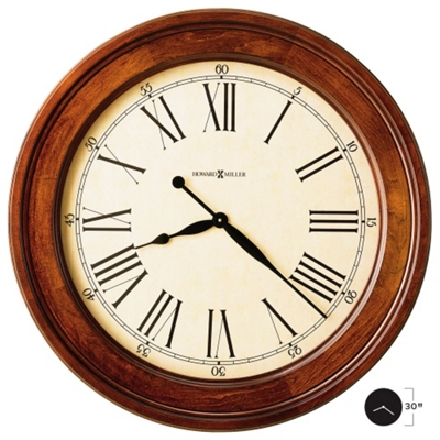 "30"" Wood Frame Wall Clock"