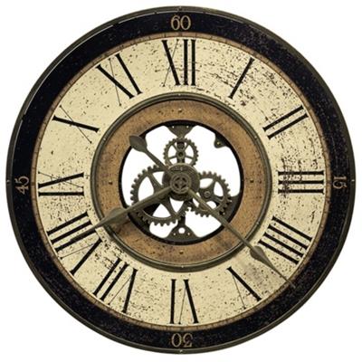 "Brass Works 32"" Wall Clock"