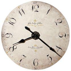"""32""""Dia Antique Dial Wall Clock"""