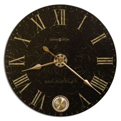 "32"" Dia Brushed Brass Pendulum Wall Clock"