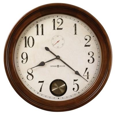 "32""Dia Wood Frame Gallery Wall Clock"