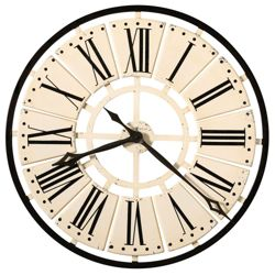 "31.5""Dia Metal Antique White Wall Clock"
