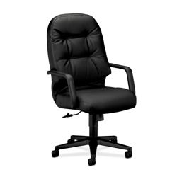 HON Pillow Soft Leather High Back Executive Chair