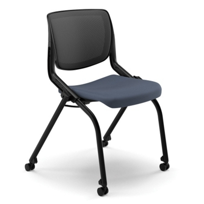 HON Motivate Armless Mesh Back Nesting Chair   51476 And More Lifetime  Guarantee