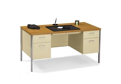 """60"""" x 30"""" Double Pedestal Steel Desk"""