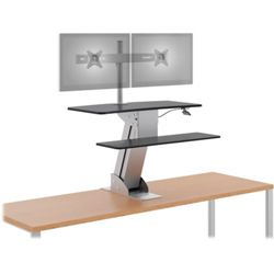 Clamp Mounted Desktop Riser with Dual Arms