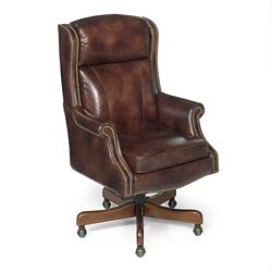Traditional Executive Chair in Leather