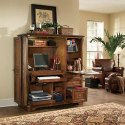 """Traditional Computer Armoire - 55.25""""W x 25.5""""D"""