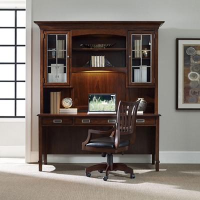 """Contemporary Laptop Desk with Hutch - 72""""W x 25""""D"""
