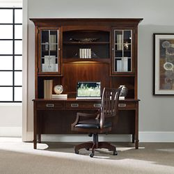 "Contemporary Laptop Desk with Hutch - 72""W x 25""D"