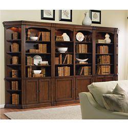 "164.5""W Classic Bookcase Wall"
