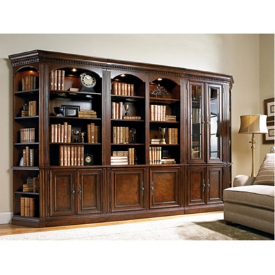 """Traditional European Library Wall Set - 88""""H"""