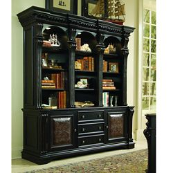 """88""""H Twelve Shelf Bookcase and Storage Credenza"""