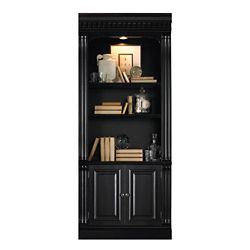 "86""H Five Shelf Bookcase with Doors"