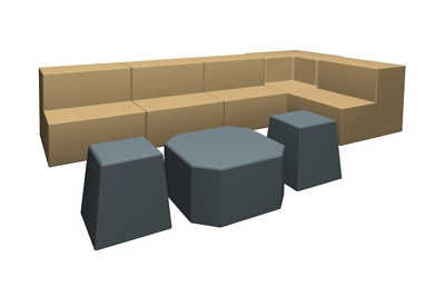 Eight Piece Collaborative Seating Set