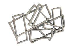 Metal Rectangles Wall Art