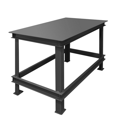 """Industrial Machine Table with 14000 lb Weight Capacity - 72""""W x 36""""D"""