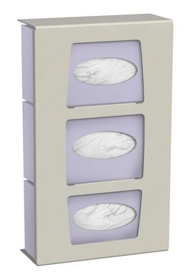 Dual Mount 3 Glove Box Wall Dispenser
