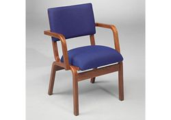 Fabric Bentwood Chair with Arms