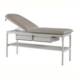 """Exam Table with Two Drawers and One Shelf - 76""""W"""