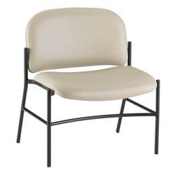 Armless Bariatric Vinyl Guest Chair