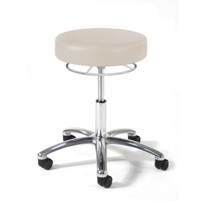 Physician Exam Stool with 360 Hand Lever and Aluminum Base