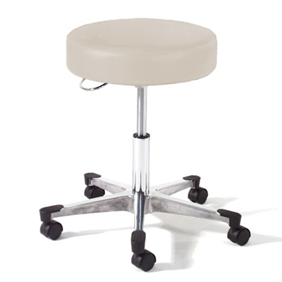 Physician Exam Stool with D Handle Release and Aluminum Base